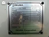 Nameplate of Okuma MX55 VB Machine
