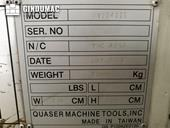 Nameplate of Quaser MV 204 II E Machine