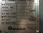 Nameplate of AMADA VELA II Machine