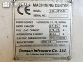 Nameplate of DAEWOO Doosan ACE HP 5500 Machine