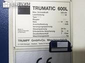 Nameplate of Trumpf Trumatic 600L Machine