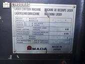 Nameplate of AMADA Quattro AF1000E machine