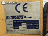 Nameplate of MicroStep HS 3001.15 Machine