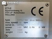 Nameplate of STYLE 1100VS Machine