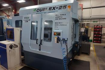 Matsuura Cublex 25 5 Axis (Turn/Mill) Twin Pallet.