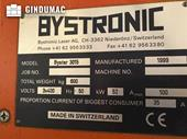 Nameplate of Bystronic Bystar 3015 Machine