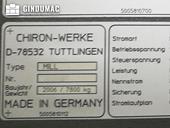 Nameplate of CHIRON MILL 800 Machine
