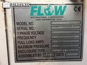 Nameplate of Flow IFB 713633-1  machine