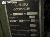 Nameplate of JUNG HF 50 RD  machine