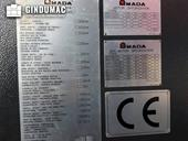 Nameplate of AMADA HD 1003 NT  machine
