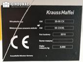 Nameplate of Krauss Maffei KM 35-55 CX  machine